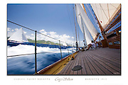 Herreshoff schooner Mariette onboard sailing custom poster.