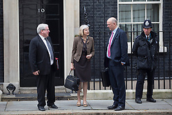 © licensed to London News Pictures. London, UK 15/10/2013. Patrick McLoughlin, Theresa May and Chris Grayling attending to a cabinet meeting in Downing Street on Tuesday, 15 October 2013. Photo credit: Tolga Akmen/LNP
