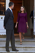 110617 Spanish Royals Attend an official lunch with President of Israel, Reuven Rivlinm and wife
