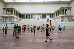 The  Pergamon Altar at Pergamon Museum in Berlin Germany