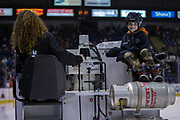 KELOWNA, CANADA - MARCH 03:  Orchard Park Zamboni Rider at the Kelowna Rockets game on March 03, 2018 at Prospera Place in Kelowna, British Columbia, Canada.  (Photo By Cindy Rogers/Nyasa Photography,  *** Local Caption ***