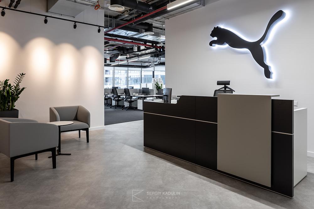 Фотосъемка интерьера офиса представительства компании PUMA.