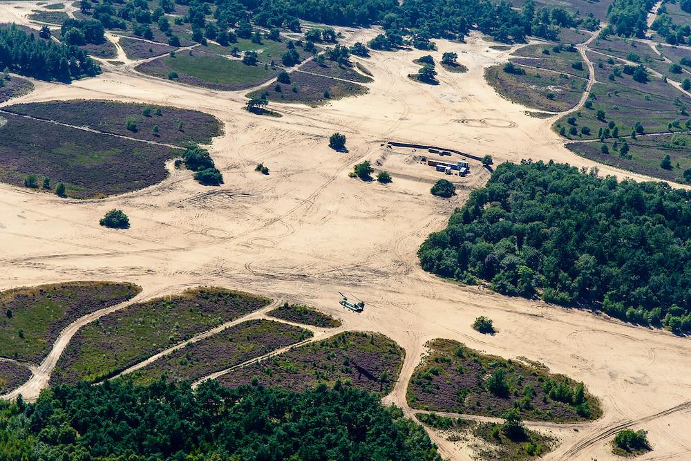 Nederland, Noord-Brabant, Oirschot, 23-08-2016; Oirschotsche Heide, militaire oefenterrein. Chinook-transporthelikopter, luchtmobiele brigade.<br /> Oirschot Heide military training area. Chinook transport helicopter, airmobile brigade.<br /> <br /> aerial photo (additional fee required); <br /> luchtfoto (toeslag op standard tarieven);<br /> copyright foto/photo Siebe Swart