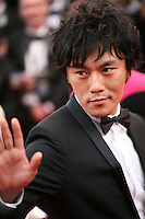 Qin Hao at the gala screening of the film De rouille et d'os at the 65th Cannes Film Festival. Thursday 17th May 2012, the red carpet at Palais Des Festivals in Cannes, France.