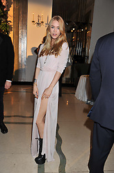 MARY CHARTERIS at a dinner and dance hosted by Leon Max for the charity Too Many Women in support of Breakthrough Breast Cancer held at Claridges, Brook Street, London on 1st December 2011.