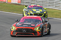 #66 Nick Jones / Scott Malvern Team Parker Racing Mercedes-AMG GT4 Pro/Am GT4  during British GT Championship race two as part of the British F3 / GT Championship at Oulton Park, Little Budworth, Cheshire, United Kingdom. April 22 2019. World Copyright Peter Taylor/PSP. Copy of publication required for printed pictures.