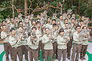 GUANGZHOU, CHINA - DECEMBER 01: (CHINA OUT) <br /> <br /> Five Generations of Koala's Family Meeting<br /> <br /> Feeders holding koalas and visitors pose at Changlong Safari Park on December 1, 2014 in Guangzhou, Guangdong province of China. Guangzhou Safari Park introduced six koalas from Australia in 2006 and had gathered fifty koalas in five generations from three populations by the end of 2014. The birth of another two koalas on December 1 satisfied the five generations koalas' family meeting and thus Guangzhou Safari Park had become the second greatest koala population after the first Australian population<br /> ©Exclusivepix Media
