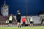 BOEKAREST - 19-08-15, Europa League, Astra GiurGiu - AZ, training, Stadionul Giulesti, AZ trainer John van den Brom.
