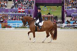 Bechtolsheimer, Laura, Mistral Hojris<br /> London - Olympische Spiele 2012<br /> <br /> Grand Prix Special, Teamwertung<br /> © www.sportfotos-lafrentz.de/Stefan Lafrentz