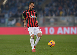 February 26, 2019 - Rome, Italy - Hakan Calhanoglu during the Italian Cup football match between SS Lazio and AC Milan at the Olympic Stadium in Rome, on february 26, 2019. (Credit Image: © Silvia Lore/NurPhoto via ZUMA Press)