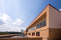 Architectural Exterior image of Bollman Bridge Elementary School in Jessup MD by Jeffrey Sauers of Commercial Photographics
