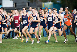 The Virginia Cavaliers men's XC team at the start of the race.  The Atlantic Coast Conference Cross Country Championships were held at Panorama Farms near Charlottesville, VA on October 27, 2007.  The men raced an 8 kilometer course while the women raced a 6k course.