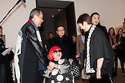 TOSHIO HARA, YAHOI KUSAMA; FRANCES MORRIS,  , Yayoi Kusama opening. Tate Modern. London. 7 February 2012