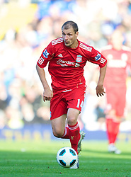 BIRMINGHAM, ENGLAND - Sunday, September 12, 2010: Liverpool's Milan Jovanovic in action against Birmingham City during the Premiership match at St Andrews. (Photo by David Rawcliffe/Propaganda)