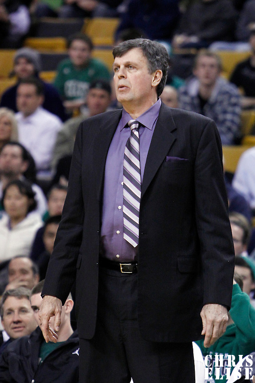 06 March 2012: Houston Rockets head coach Kevin McHale is seen during the Boston Celtics 97-92 (OT) victory over the Houston Rockets at the TD Garden, Boston, Massachusetts, USA.