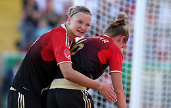 03.06.2011, Osnatel Arena, Osnabrueck, GER, WM 2012 FSP,  Deutschland (GER) vs Italien (ITA), im Bild Torjubel Alexandra Popp und Simone Laudehr (GER) during the WM 2011 Friendly Game, Germany vs Italy, at Osnatel Arena, Osnabrück, 2011-06-03, .EXPA Pictures © 2011, PhotoCredit: EXPA/ nph/  Hessland       ****** out of GER / SWE / CRO  / BEL ******