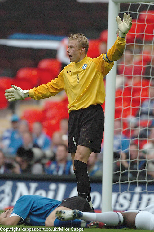 MART POOM, Goalkeeper, Estonia, England - Estonia, UEFA European Championships 2008, Wembley, 13/10/2007