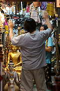 Chatuchak Sunday Market. Buddha shop.