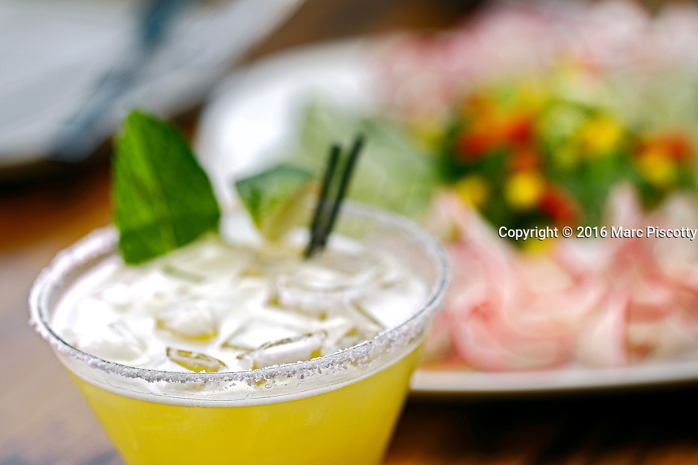 SHOT 10/12/16 5:14:40 PM - A house margarita with tequila, fresh lime juiced orange liquor at Latigo Modern Mexican restaurant in the Ballpark Located in downtown Denver, Latigo is a purveyor of fine Mexican dining from the esteemed Chef Ignacio Leon. (Photo by Marc Piscotty / © 2016)
