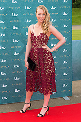 © Licensed to London News Pictures. 11/08/2016. ALICE ORR-EWING attends the VIP press screening of Victoria. The ITV series traces the early life of Queen Victoria, from her accession to the throne at the tender age of 18 through to her courtship and marriage to Prince Albert.  London, UK. Photo credit: Ray Tang/LNP
