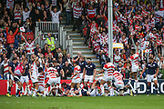 Japan score the first try of the game during the Rugby World Cup Pool B match between Scotland and Japan at the Kingsholm Stadium, Gloucester, United Kingdom on 23 September 2015. Photo by Shane Healey.
