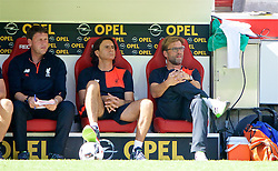 MAINZ, GERMANY - Sunday, August 7, 2016: Liverpool's manager Jürgen Klopp with assistant manager Zeljko Buvac and first team coach Peter Krawietz in action against FSV Mainz 05 during a pre-season friendly match at the Opel Arena. (Pic by David Rawcliffe/Propaganda)