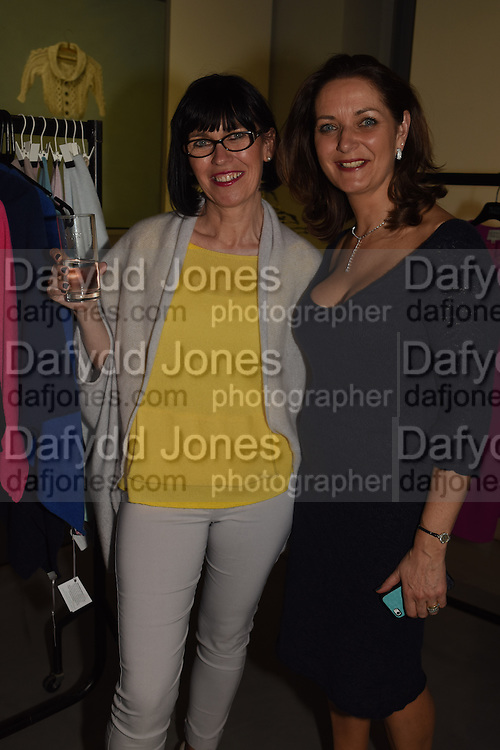 SHARON WATERS; ELAINE MADIGAN;  The Arthur Cox Irish Fashion Showcase 2015,  Irish based designers chosen to be part of this year's Arthur Cox Irish Fashion Showcases The Mall Galleries, London. 13 May 2015.
