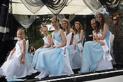 Carnival Princesses, Bexhill Town carnival procession. Bexhill on Sea. 30 July 2016
