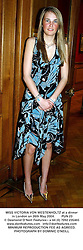 MISS VICTORIA VON WESTENHOLTZ at a dinner in London on 26th May 2004.PUN 23