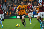 Diogo Jota of Wolverhampton Wanderers during the Premier League match between Wolverhampton Wanderers and Aston Villa at Molineux, Wolverhampton, England on 10 November 2019.