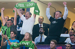 Karel Erjavec, Slovenian Minister of Foreign Affairs celebrates during the Final basketball match between National Teams  Slovenia and Serbia at Day 18 of the FIBA EuroBasket 2017 at Sinan Erdem Dome in Istanbul, Turkey on September 17, 2017. Photo by Vid Ponikvar / Sportida