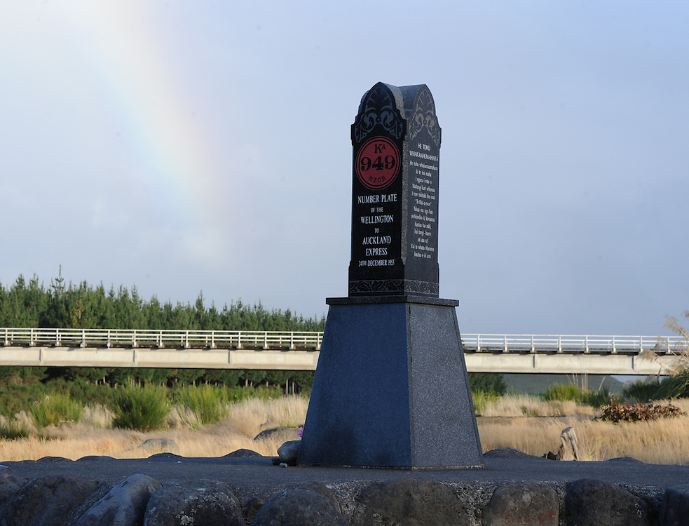 Memorial to those who died in the Tangiwai rail disaster, 1953, Tangiwai, New Zealand, Sunday, April 29, 2012. Credit:SNPA / Ross Setford