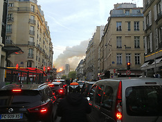 Cathedral of notre dame in paris burning