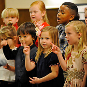 Kids sing during the Covenant Christian School Christmas Program in Troy, Ala., Tuesday, Dec. 16, 2014. (Photo/Thomas Graning)