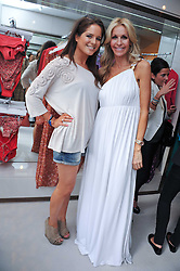 Left to right, ALEXANDRA 'BINKY' FELSTEAD from TV's Made in Chelsea and MELISSA ODABASH at the opening of the new Melissa Odabash store in Walton Street, London SW3 on 7th July 2011.