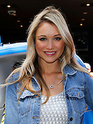 """Katrina Bowden poses as P&G Launches """"Everyday Effect Campaign"""" in Herald Square in New York City, New York on June 19, 2013."""
