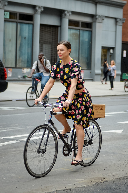 Florals and Bike, Lafayette St NYC