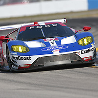 Sebring, FL - Mar 17, 2016:  The Chip Ganassi Racing Ford GT races through the turns at the Mobil 1 12 Hours of Sebring at Sebring International Raceway in Sebring, FL.