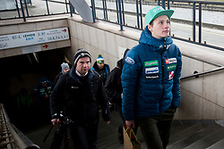 Domen Prevc prior to the driving of Slovenian National Ski jumping Team from Ljubljana by train to the FIS World Cup Ski Jumping Final Planica 2018, on March 21, 2018 in Ljubljana, Slovenia. Photo by Urban Urbanc / Sportida