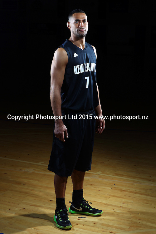 Mika Vukona, Tall Blacks, New Zealand national basketball team profile shots. Breakers Gym, Auckland. 17 July 2015. Copyright Photo: William Booth / www.photosport.nz