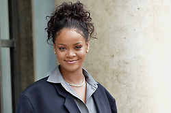 July 27, 2017 - Paris, France - Rihanna arrives at Elysee Palace to meet Emmanuel Macron. (Credit Image: © Visual via ZUMA Press)