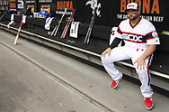 CHICAGO - APRIL 07:  Yonder Alonso #17 of the Chicago White Sox looks on against the Seattle Mariners on April 7, 2019 at Guaranteed Rate Field in Chicago, Illinois.  (Photo by Ron Vesely)  Subject:  Yonder Alonso