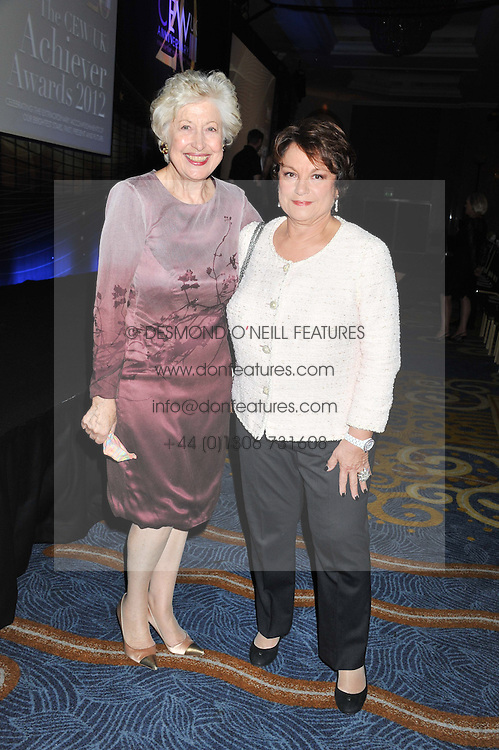 Left to right, CAROLINE NEVILLE and FRANCOISE MONTENAY at the 20th CEW (UK) Achiever Awards 2012 - celebrating two decades of women, passion, beauty, held at the Hilton, park Lane, London on 16th October 2012.