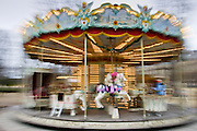 Carousel in Jardin des Tuileries, Central Paris, France