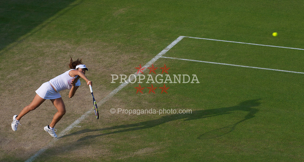 LONDON, ENGLAND - Thursday, June 24, 2010: Ayumi Morita (JPN) during the Ladies' Singles 2nd Round on day four of the Wimbledon Lawn Tennis Championships at the All England Lawn Tennis and Croquet Club. (Pic by David Rawcliffe/Propaganda)
