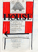 Working drawing for a poster on HOUSE. <br /> HOUSE was a retail space in the heart of Colombo, The Fort and was the predecessor of BAREFOOT