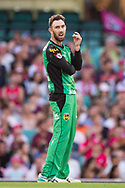 Melbourne Stars player Glenn Maxwell reacts to a chance at the Big Bash League cricket match between Sydney Sixers and Melbourne Stars at The Sydney Cricket Ground in Sydney, Australia