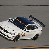 January 06, 2018 - Daytona Beach, Florida, USA:  The Classic BMW/ Vess Energy Group BMW M4 GT4 races through the turns at the Roar Before The Rolex 24 at Daytona International Speedway in Daytona Beach, Florida.