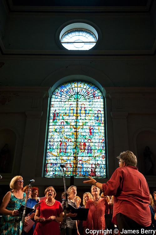 Women Sing East rehearsal. Shoreditch Church.