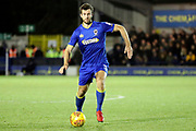 AFC Wimbledon defender Jon Meades (3) dribbling during the EFL Sky Bet League 1 match between AFC Wimbledon and Walsall at the Cherry Red Records Stadium, Kingston, England on 25 November 2017. Photo by Matthew Redman.
